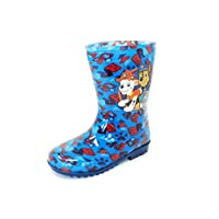 Nickelodeon Licensed Paw Patrol Childrens Kids Wellington Boots Rain Wellies Boys Girls Mid Calf Snow Boots Kids Size UK 6-12 (10 UK Child, Chase/Marshall - Blue/Navy)