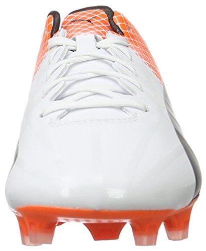 Puma Evospeed Sl-s Ii Fg, Chaussures de Football Compétition Homme Blanc - Weiß (puma white-puma Black-SHOCKING Orange 04)