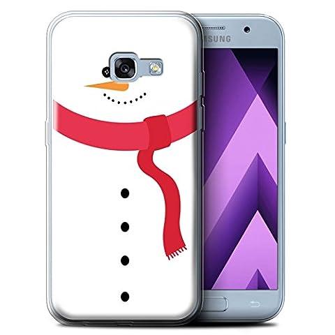 Coque Gel TPU de STUFF4 / Coque pour Samsung Galaxy A3 (2017) / Bonhomme Neige Design / Caractère de Noël Collection