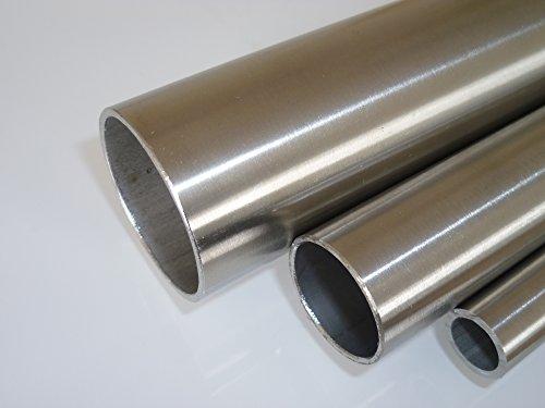 B&T Metall Edelstahl Rundrohr längsnahtgeschweißt Ø 20.0x2.0 mm - ca. 1000 mm lang 1.4301 geschliffen K240
