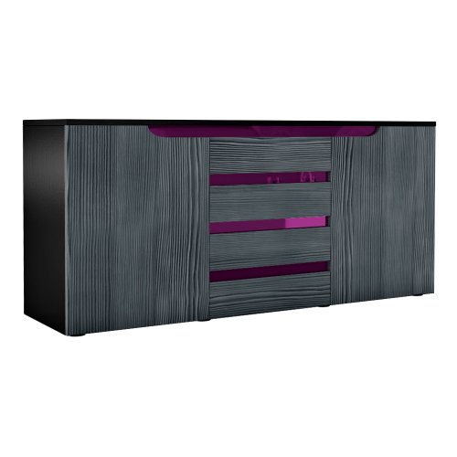 Sideboard Chest of Drawers Sylt V1 V2 in Black
