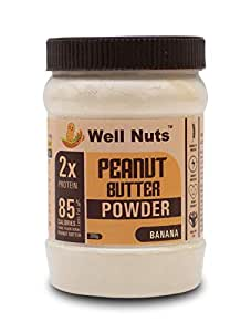 Well Nuts Peanut Butter Powder Banana 200 G -15 G Protein -Gluten Free