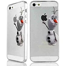 Robinhood99 iPHONE 4 4s 5 5s 5c 6 plus transparente Funda // dicromatismo/congelarán Disney Mickey Mouse // // hablandobob Olaf Tigger sinergético, Olaf, iPhone 4/4S