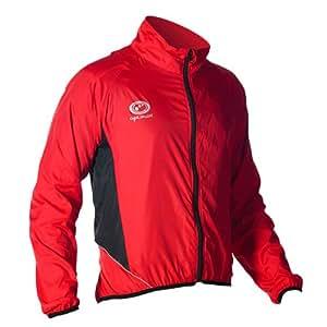 Optimum Men's Hawkley Cycling Stowaway Jacket, Red, Small