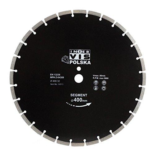 Diamanttrennscheibe Trennscheibe 400mm x32mm Beton Klinker Ziegel (TAR-IV400-32)