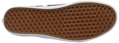 Vans Authentic, Sneakers Basses Mixte Adulte Noir (Italian Weave white/black)