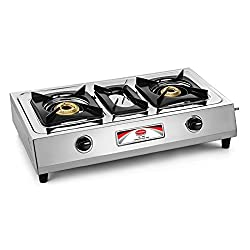 Padmini Gas Stove, 2 Burner, Silver (CS-203)