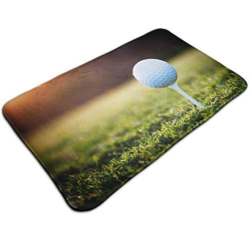 Uosliks Golfbälle auf dem Gras morgens Küchen-Badezimmer-Akzent-Boden-Teppich-Außentür-Dekor-Eingangs-Wolldecke - Badezimmer Gras-teppich