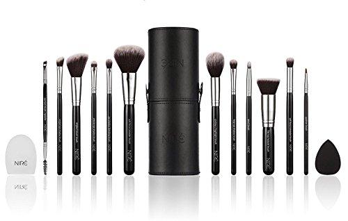 Niré Beauty Makeup Brush Set: Make Up Brushes With Brush Case, Beauty Blender & Cleaner