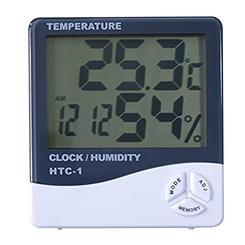 RCYAGO HTC-1 LCD Thermometer Hygrometer Wetterstation Innentemperatur Instrumente Temperatur Feuchtigkeit Meter Digitaluhr