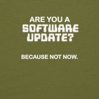 Planet Nerd - Are you a Software Update - Herren T-Shirt Oliv