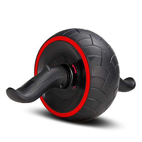 Covvy Abs Carver Pro Roller Ab-Roller Rad Trainer Pro Bauch Magen Übung Training Fitnessgeräte (Rot)
