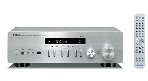 Yamaha MusicCast R-N402D - Receptor estéreo en red (WiFi, Bluetooth) color plata