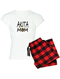 CafePress Akita Mom Women s Light Pajamas - Womens Novelty Cotton Pajama  Set 670dc836a