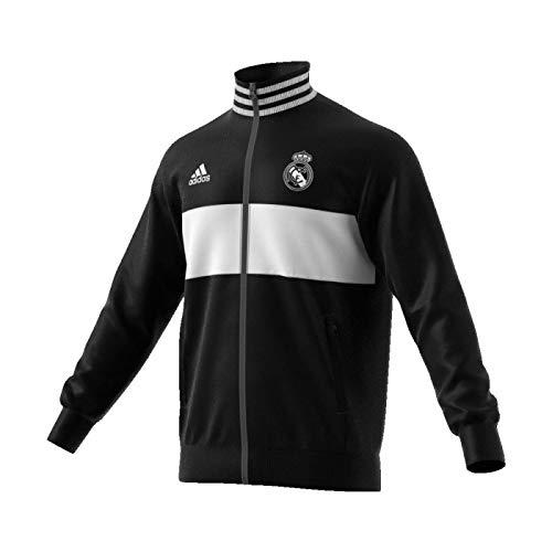adidas REAL 3S TRK TOP - Jacke mit Real Madrid Linie, Herren, schwarz (schwarz/blau).