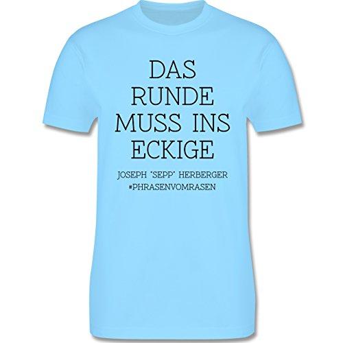EM 2016 - Frankreich - Das Runde muss ins Eckige - Herren Premium T-Shirt Hellblau