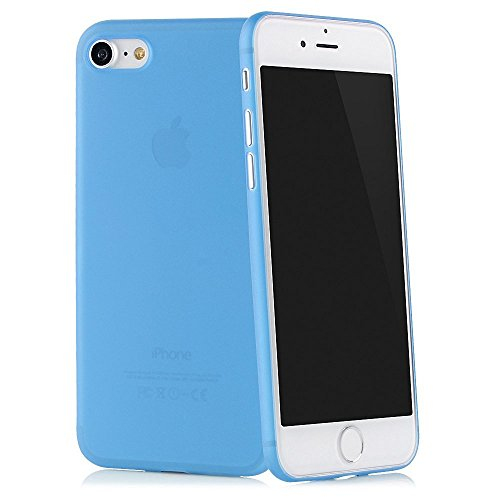 "QUADOCTA iPhone 6 (4,7"") Ultra Slim Case - Schutzhülle - ""Tenuis"" in Schwarz - Ultra dünne iPhone Hülle - Leicht transparentes Case Blau"