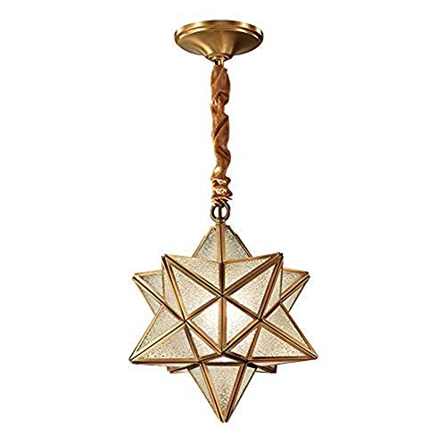 Nordischen Stil Kronleuchter Kreative Sterne Kristall Kronleuchter Kupfer Glas Kronleuchter Wohnzimmer Schlafzimmer Arbeitszimmer Esszimmer Beleuchtung [Energie A ++] -