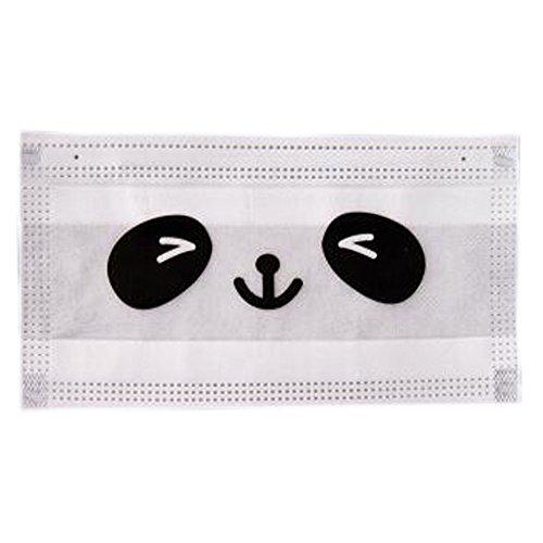 5PCS wegwerfbare PM2.5 Anti-bakterielle staubdichte Filterung Earloop Mund-Gesichtsmaske, Weißes Panda Auge (Staubmaske Augen -)