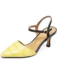 QIN&X Chaussures Femmes Talon Plat Sandales Flip Flop,38,L'Abricot