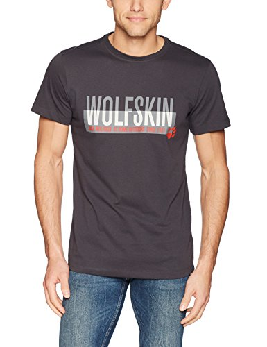 Jack Wolfskin Herren Slogan T-Shirt, Phantom, L - Cross 1 T-shirts