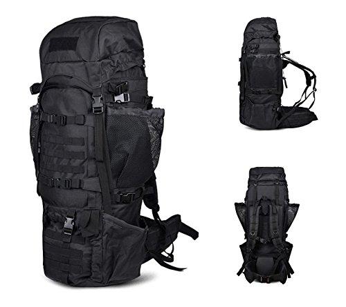 125L Rucksäcke Outdoor Hohe Kapazität Bergsteigen Reisetasche für Männer und Frauen Rucksack Militärische Tactical Schulterriemen schwarz
