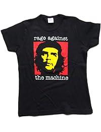 Girlie Shirt Rage Against The Machine Größe S schwarz Baumwolle Siebdruck