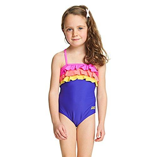 sche Raffhalter Badeanzug für Mädchen–lila 3 Jahre violett (Jungle Girl Costume)