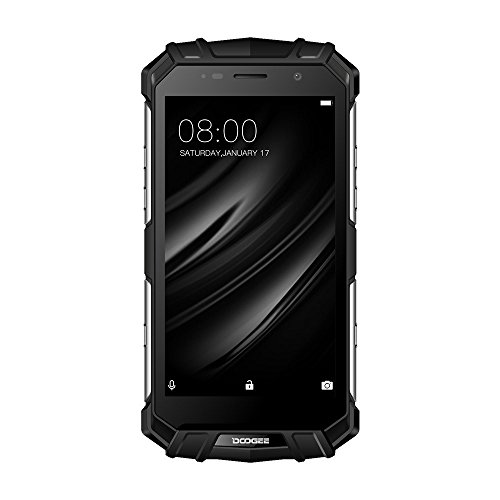 Smartphone ohne Vertrag, DOOGEE S60 Wasserdichte Outdoor Handy - Dual SIM Robustes Smartphones Android 7.0-4G 5.2 Zoll FHD - Helio P25 Octa-core -8.0MP+21.0MP - 5580mAh (Silber)