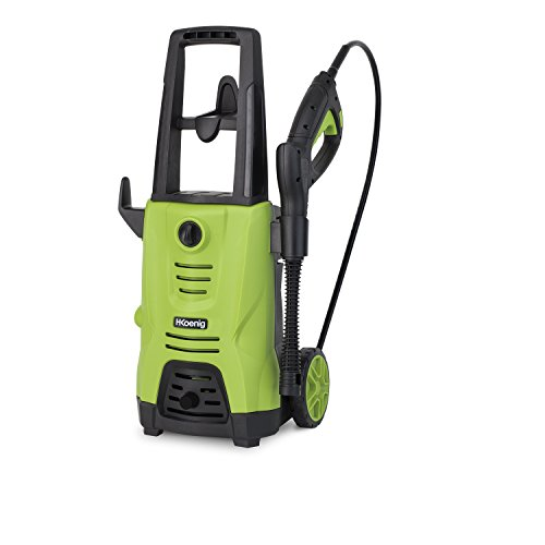 H.Koenig HWP3 Nettoyeur Haute Pression-Puissant, maniable, efficace-110 bars-320 L/h, Vert et Noir