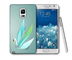Snoogg Colorful Swan Printed Protective Phone Back Case Cover For Samsung Galaxy NOTE EDGE