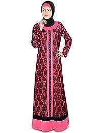 MyBatua Beautiful Shameemah Abaya with Flowr Net