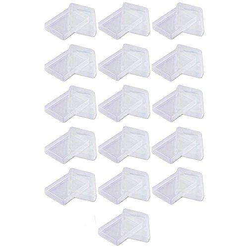 16 cajas de plástico vacías para cartas transparentes. Se puede utilizar para almacenar alrededor de 60 cartas de juego normales o tarjetas de visita o cualquier objeto pequeño.
