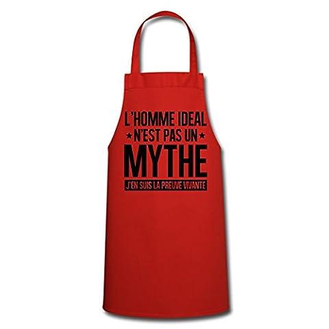 Homme Idéal Preuve Vivante Humour Tablier de cuisine de Spreadshirt®,