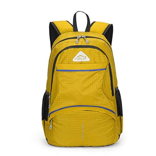 OOLIFENG Outdoor Travel Taschen Rucksäcke für Damen Herren Ultralight Sporttasche Yellow