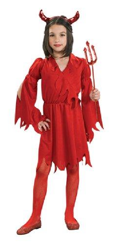Rubie's Karneval Kinder Kostüm Teufel Mädchen Kleid Fasching Größe - Ein Teufel Kostüm Mädchen