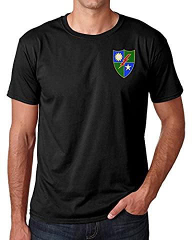 US Army 75th Ranger Regiment Embroidered Logo - Ringspun Cotton T Shirt By Military online
