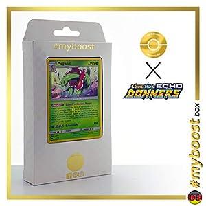 Meganie (Meganium) 8/214 Holo - #myboost X Sonne & Mond 8 Echo Des Donners - Box de 10 Cartas Pokémon Alemán