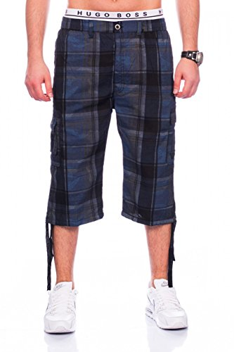 Men Cargo Shorts | Casual Fit · Knee Length Plaid Bermuda · Summer Cargo Basic Short · Leisure · Capri Pants · Short Walk Shorts with Elasticated Waistband · Plaid Pattern | H1437 Max Men