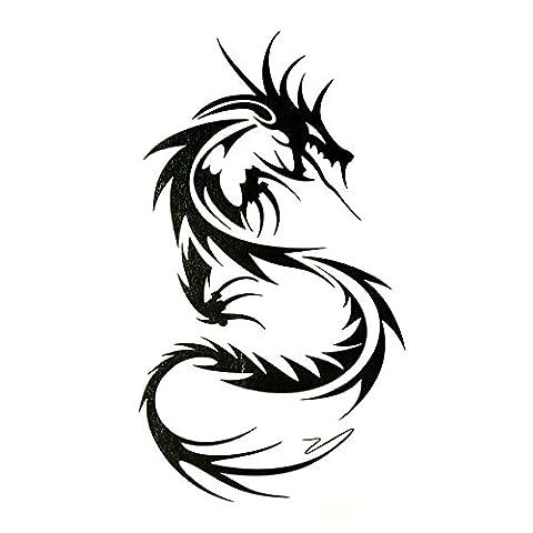 Oottati Petit Joli Tatouage Temporaire Dragon (Set De