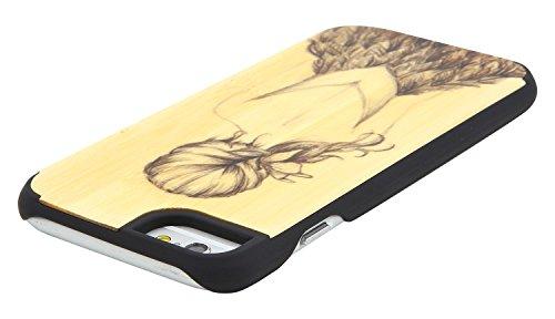 """eimo Apple iPhone 6 4.7"""" Original Cover Case bois avec bords noirs et d'absorption des chocs Couche pour iPhone 6 4.7 pouces --16 11"""