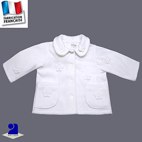 c5968f06bf8f Poussin bleu - Veste polaire baptême, mariage 3 mois au 10 ans Made In  France