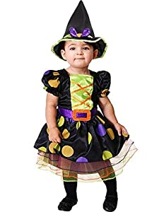 amscan-Little Cute Witch Costume-Age Years-1 Pc Disfraz de bruja pequeña - Edad 2-3 años - 1 pieza, multicolor, (PDBW2)