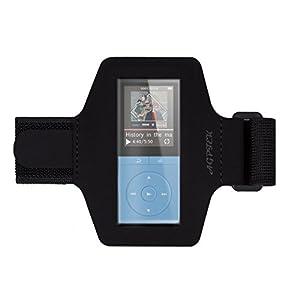 Verstellbar wasserdichter MP3 Player Armband mit reflektierendem Streifen für Nachts Sicherheit, geeignet für Bewegung, Gymnastik, Jogging, Rad, von AGPTEK