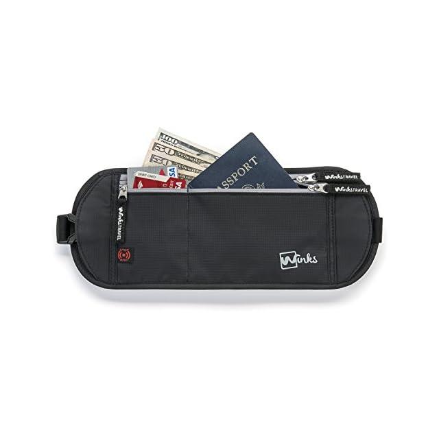 Ceinture porte-billet cachée avec blocage RFID sac de taille porte-monnaie durabilité maximale