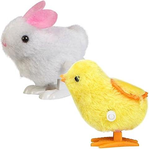 SROPS Nuevo Bebé Juguetes Hopping Viento Arriba De Pollito De Pascua Y El Conejito