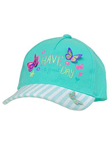 maximo Mädchen Kappe Cap Day, Schmetterlinge, Blau (Blue Tint 22), 51/53