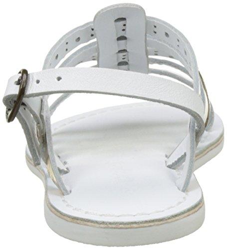 Kickers Mädchen Dixmillion Perf Peep-Toe Blanc (Blanc Argent)