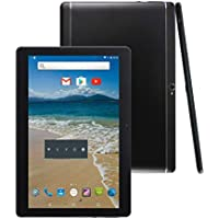 "Android Tablet 10 Inch Sim Card Slots 10.1"" 4GB RAM 64GB ROM Octa Core 3G Unlocked GSM Phone Tablet PC WiFi Bluetooth GPS (Metallic Black)"