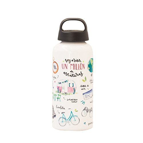 Lovely Streets - Botella de aluminio, aventuras, multicolor
